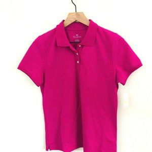 NWT! Talbots Solid Pink Polo Shirt S